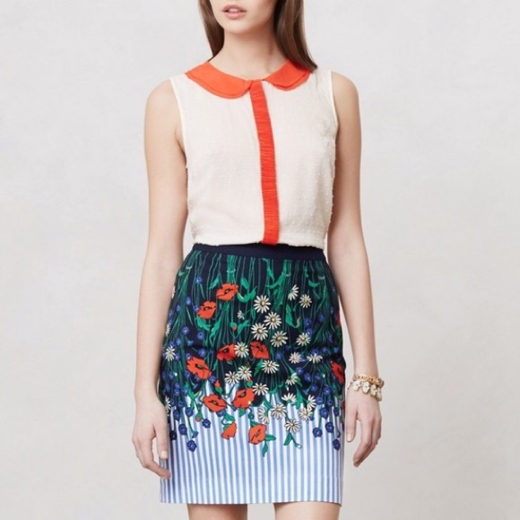 Anthropologie Dresses & Skirts - Postmark Vertical Garden Floral Pencil Skirt!